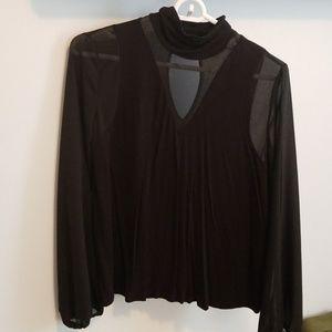 Peekaboo black blouse